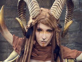 Warrior Faun Lightning Cosplay