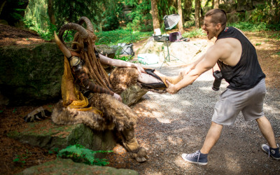 Faun Photoshoot for my new Book – Behind the Scenes