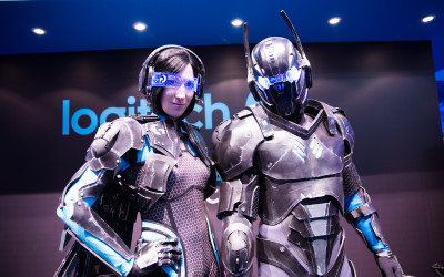 Gamescom at Logitech booth