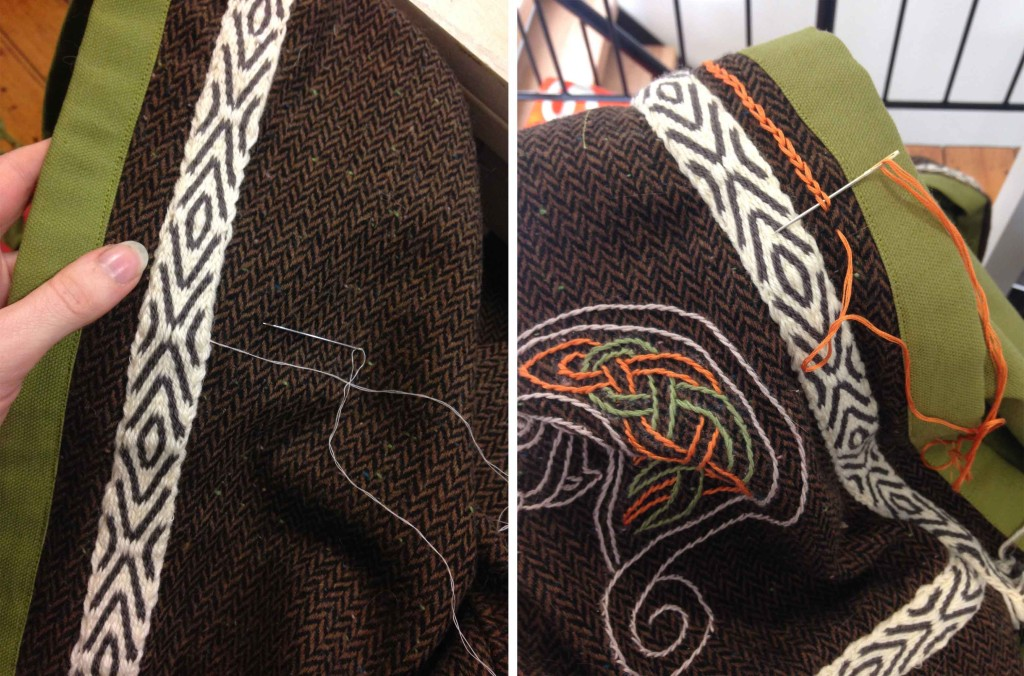 hand embroidery stitching viking