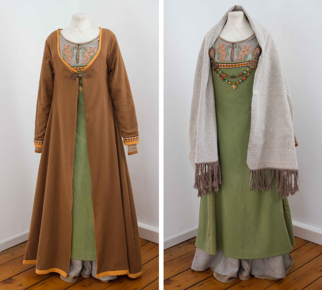viking dress and cloak