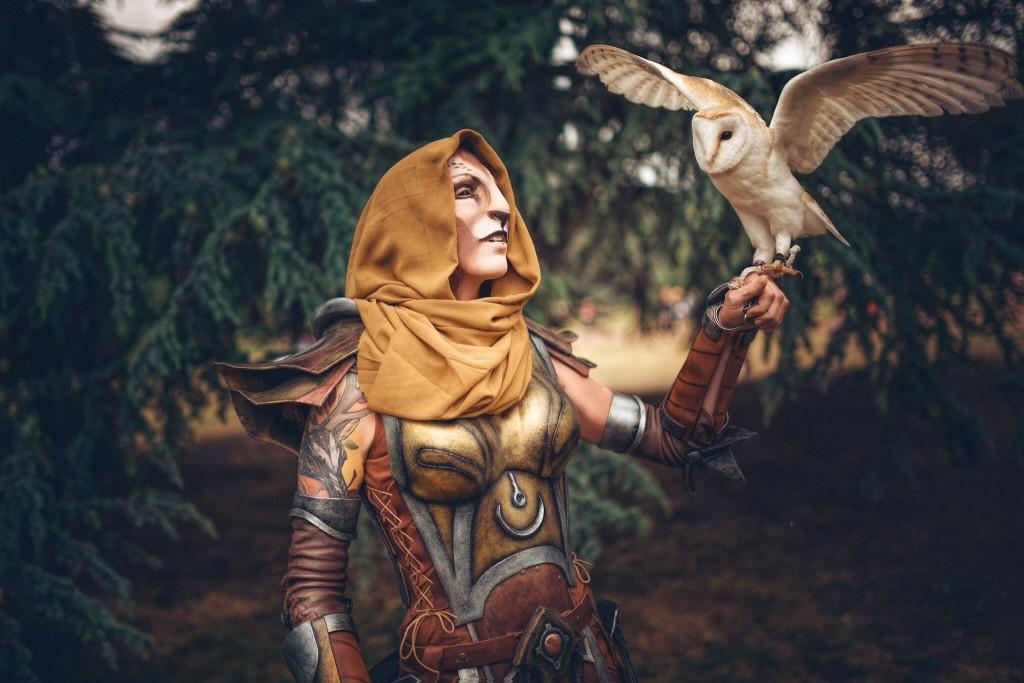 khajiit cosplay owl