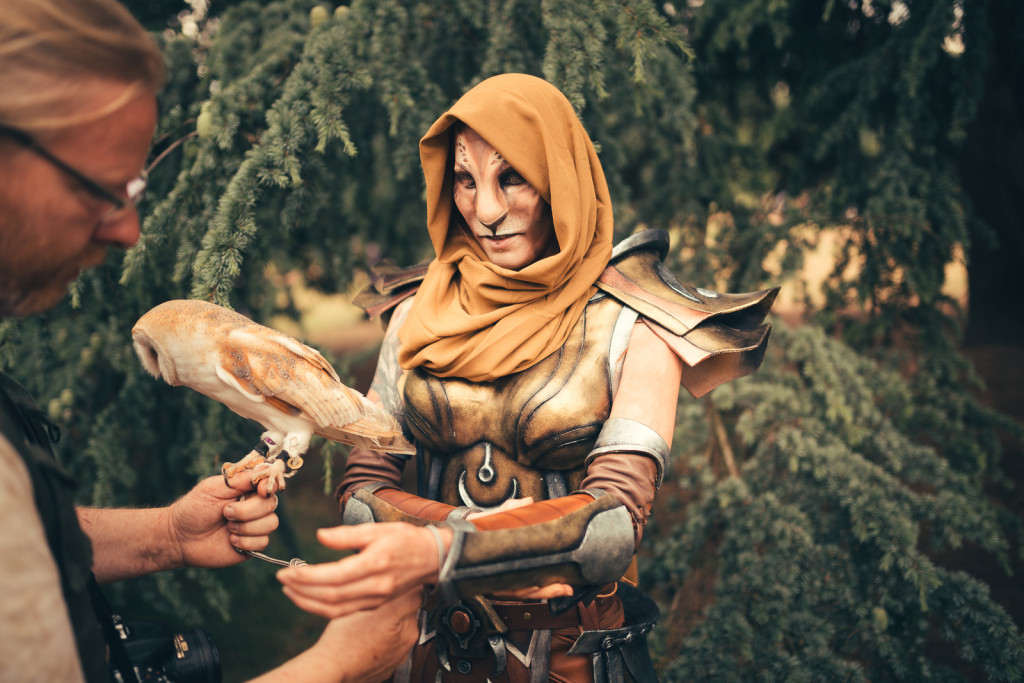 khajiit cosplay photoshoot