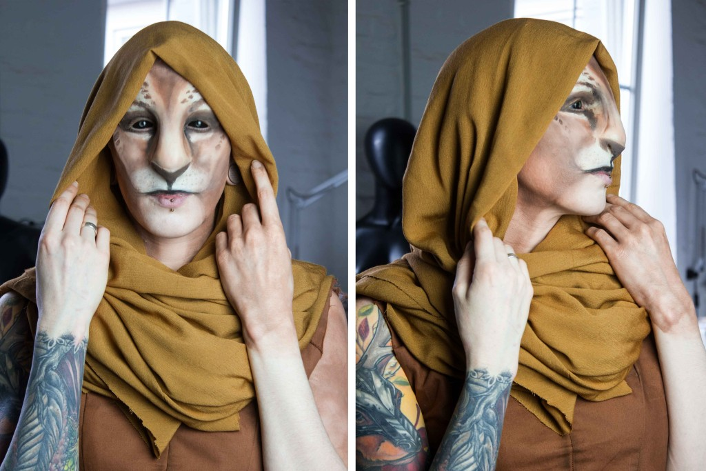 khajiit make up silicone prostetic