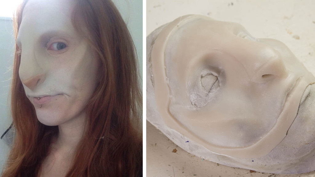 cat face prosthetics silicone
