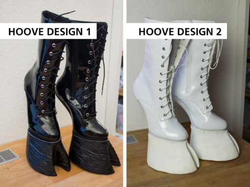 Hooved shoes