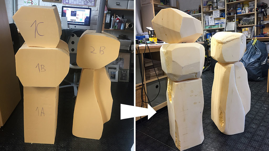 Carving Styrofoam