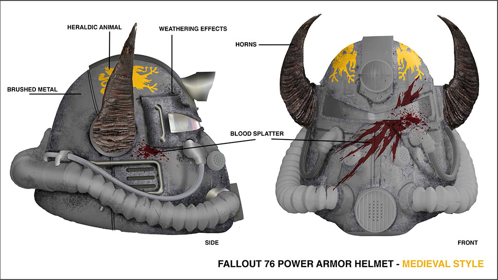 Fallout 76 HelmetFallout 76 Helmet Design
